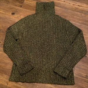 Royal Robbins green turtle neck sweater XL